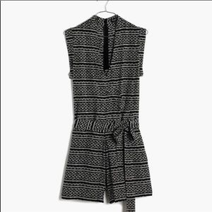 Madewell Small Black & White Kimono Romper